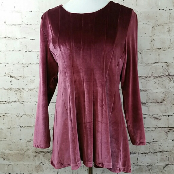 Soft Surroundings Tops - Soft Surroundings velvet tunic top